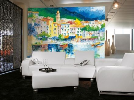 Work of art riviera wall mural wallpaper